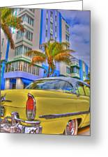 Ocean Drive Greeting Card by William Wetmore