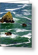 Ocean Rock Greeting Card by Marty Koch