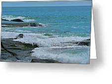 Ocean Roll Greeting Card by Debra     Vatalaro