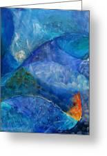 Ocean's Lullaby Greeting Card by Aliza Souleyeva-Alexander