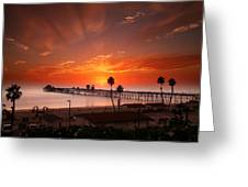 Oceanside Sunset 9 Greeting Card by Larry Marshall