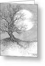 October Moon Greeting Card by Adam Zebediah Joseph