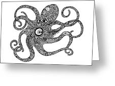 Octopus Greeting Card by Carol Lynne