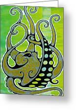 Octopus Greeting Card by John Benko