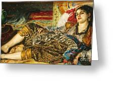 Odalisque Greeting Card by Pg Reproductions