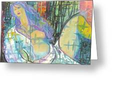 Odalisque Greeting Card by Todd  Peterson