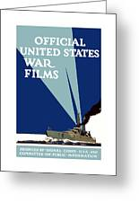 Official United States War Films Greeting Card by War Is Hell Store