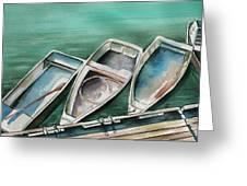 Ogunquit Maine Skiffs Greeting Card by Brenda Owen