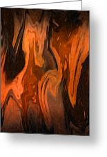 Oil Abstract Greeting Card by Svetlana Sewell