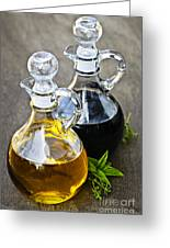 Oil And Vinegar Greeting Card by Elena Elisseeva