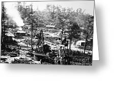 OIL: PENNSYLVANIA, 1863 Greeting Card by Granger