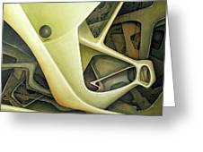 Ol1962dc001 Micro Cosmos 48x58 Greeting Card by Alfredo Da Silva