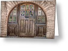 Old Archway And Door Greeting Card by Sandra Bronstein