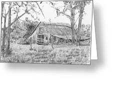 Old Barn 2 Greeting Card by Barry Jones