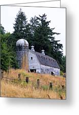 Old Barn In Field Greeting Card by Athena Mckinzie