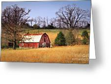 Old Barn Greeting Card by Tamyra Ayles