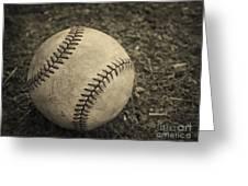 Old Baseball Greeting Card by Edward Fielding