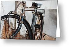Old Bike II Greeting Card by Robert Meanor