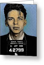Old Blue Eyes - Frank Sinatra Greeting Card by Bill Cannon