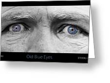 Old Blue Eyes Poster Print Greeting Card by James BO  Insogna