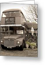 Old Bus Cafe Greeting Card by Eena Bo