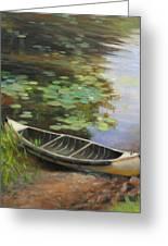 Old Canoe Greeting Card by Anna Bain