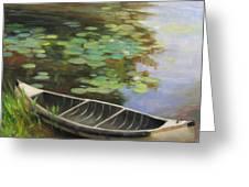 Old Canoe Greeting Card by Anna Rose Bain