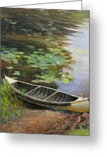 Old Canoe Greeting Card by Anna Rose Bain