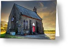 Old Church Greeting Card by Charuhas Images