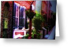 Old City Streets - Elfreth's Alley Greeting Card by Bill Cannon