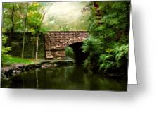 Old Country Bridge Greeting Card by Jessica Jenney