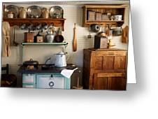 Old Country Kitchen Greeting Card by Carmen Del Valle