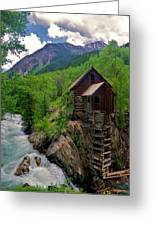 Old Crystal Mill Greeting Card by Matt Helm