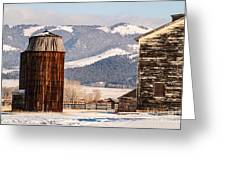 Old Farm Buildings Greeting Card by Sue Smith