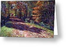 Old Farmhouse Road Greeting Card by David Lloyd Glover