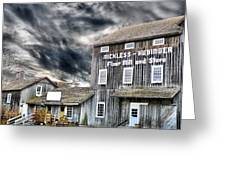 Old Grain Mill Greeting Card by Scott Hovind