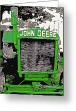 Old John Deere Tractor - Utah State Fair Greeting Card by Steve Ohlsen