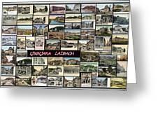 Old Ljubljana Collage Greeting Card by Janos Kovac