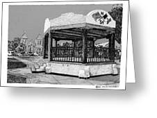 Old Mesilla Plaza And Gazebo Greeting Card by Jack Pumphrey