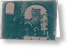 Old Milan Greeting Card by Naxart Studio