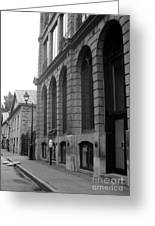 Old Montreal Street Scene Greeting Card by Reb Frost