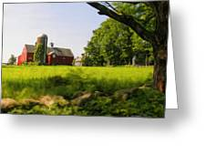 Old New England Farm Greeting Card by Elzire S