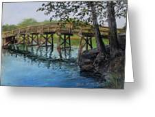 Old North Bridge In Pastel Greeting Card by Jack Skinner