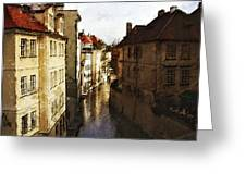 Old Prague Greeting Card by Jo-Anne Gazo-McKim