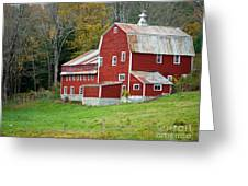 Old Red Vermont Barn Greeting Card by Edward Fielding