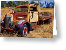 Old Rusting Flatbed Truck Greeting Card by Garry Gay