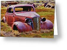 Old Rusty Car Bodie Ghost Town Greeting Card by Garry Gay