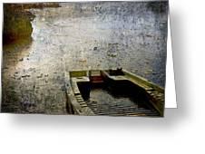 Old Sunken Boat. Greeting Card by Bernard Jaubert