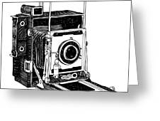 Old Timey Vintage Camera Greeting Card by Karl Addison