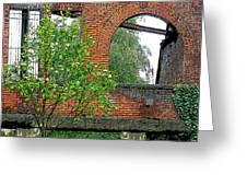 Old Town Abandoned Lot Greeting Card by Nilla Haluska